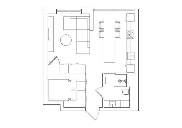 Cần đảm bảo tính logic và hợp lý khi thiết kế căn hộ Moonlight Centre Point 35m2 dạng Studio